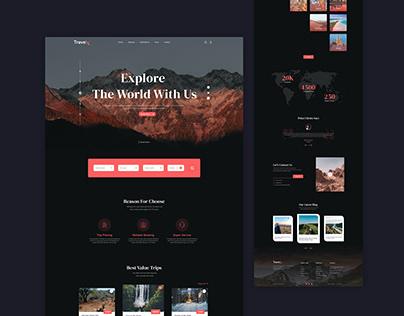 Travel Agency Webpage UI Design