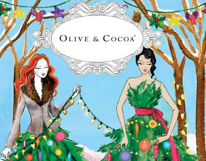 Olive & Cocoa Cover Illustrations