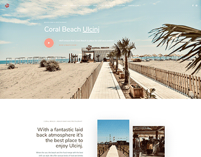 NEW website for Coral Beach - Bar and restaurant