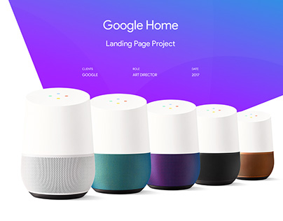 """Google Home""Web Site Redesign"