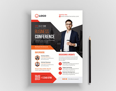 Creative Corporate & Business Conference Flyer Template