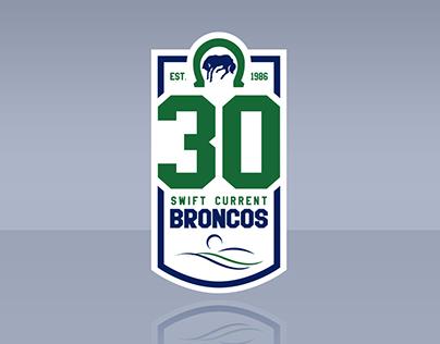 Swift Current Broncos: 30th Anniversary Logo
