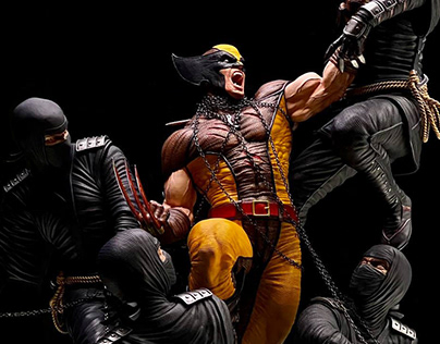Wolverine diorama