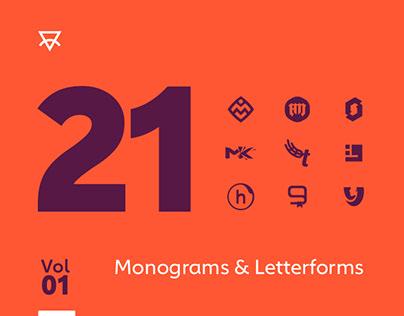 21 Monograms & Letterforms. Vol. 01