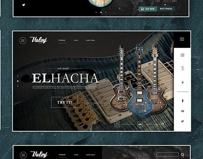 "Valoy guitars Presentation ""El Hacha""- Web Design"