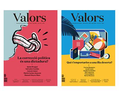 Revista Valors. Creatividad y animación portadas