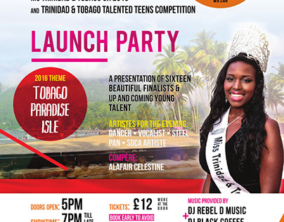 Miss T&T UK National Queen and Talented Teen 2016