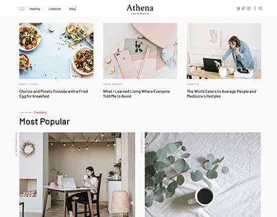 Athena - Minimal Blog/Magazine HTML Template