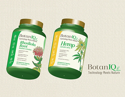 3d Package Mockup - Rhodiola and Hemp Root