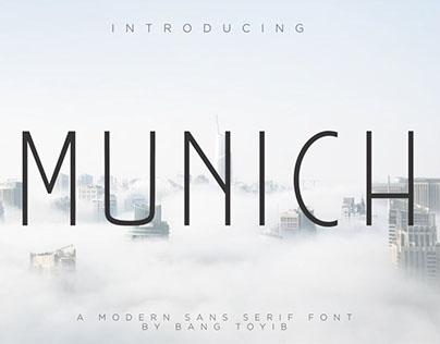 MUNICH - FREE SANS SERIF FONT