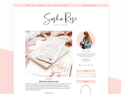 Wordpress Blog Theme - Sasha Rose