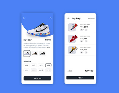 Sneakers Ordering App UI/UX Design