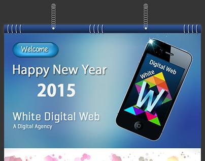 Happy New Year Calendar of 2015