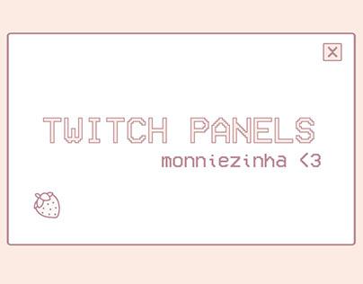 Twitch Panels - Monniezinha