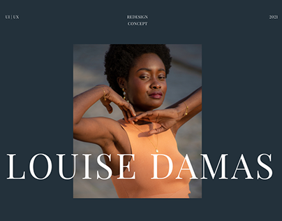 LOUISE DAMAS — website redesign concept