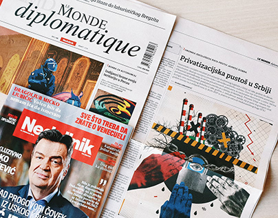 Illustration For Le Monde Diplomatique Magazine