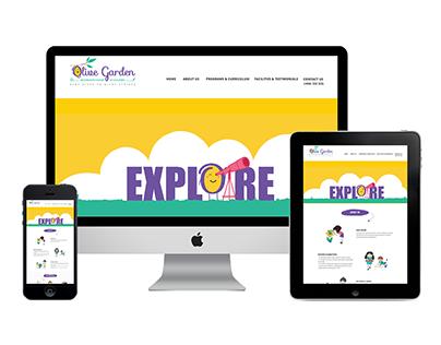 Website & Branding for Olive Garden Montessori