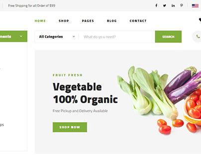 Ecommerce vegetables