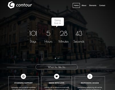 Contour - Free Coming Soon Template