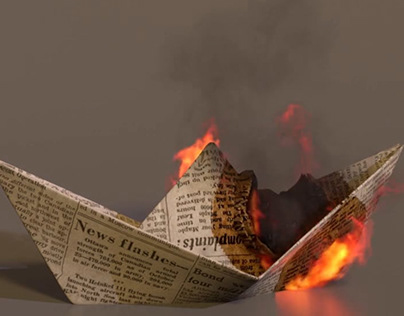 Burning Paper Boat