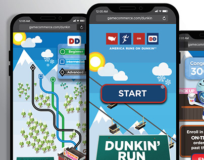 UX-UI Mobile games for Dunkin' Donuts