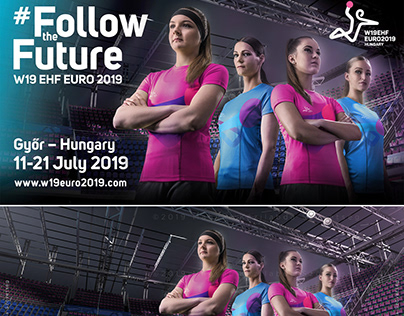 W19 EHF EURO 2019 Campaign photo / poster