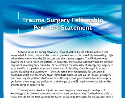 neonatology fellowship personal statement sample