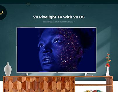 VTV Landing Page Concept