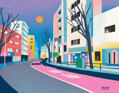 Illustrations| Tokyo streets