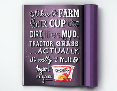 """Chobani """"like a farm..."""""""