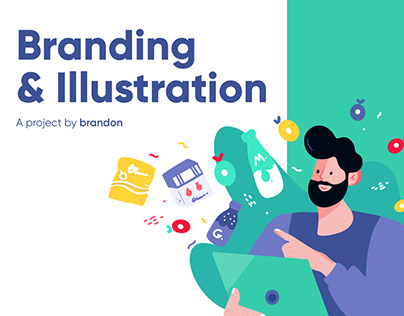 Online shop Grioo, logo design, branding