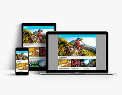 Responsive Website und Geschäftsdrucksachen