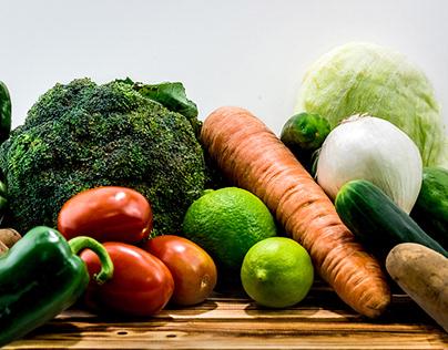 Fruits & Vegetables Photoshoot in studio