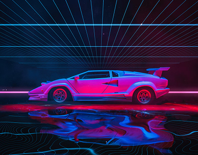 Synthwave Countach