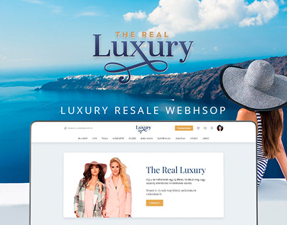 The Real Luxury resale webshop design