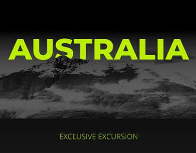 Australia. Landing page