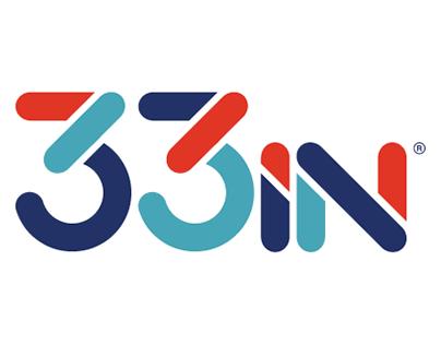 33in Skateboard T-shirt + Logo