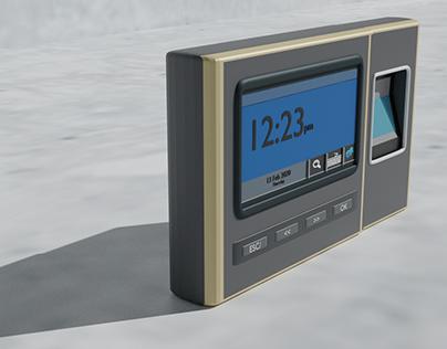 Blender 3d 2.81A Fingerprint Time Attendance System