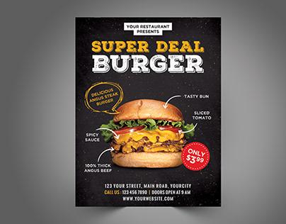 Super Burger flyer design