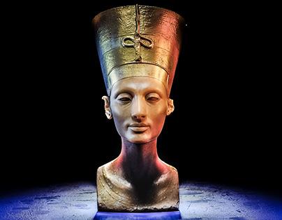 3D Art Rendering - Nefertiti bust