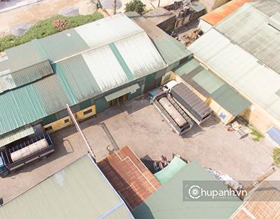 Chụp ảnh không gian nhà xưởng thức ăn chăn nuôi