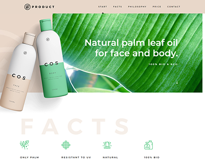 Natural Product Suepplier and Selling Landing Page