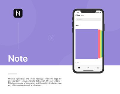 Note App Design