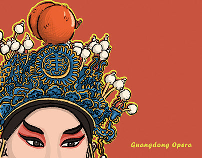 """Unique Cantonese opera""Cultural and creative product d"