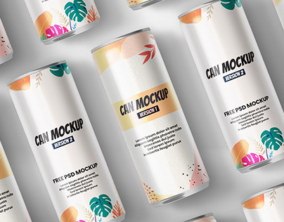 Can Packaging Free Mockup