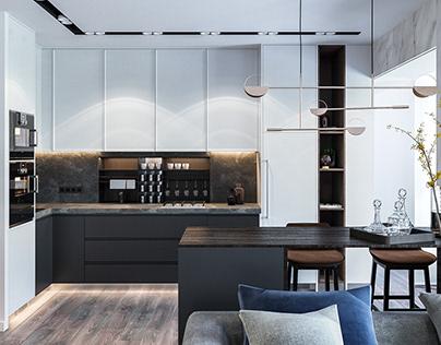luxury apartment in kiev   2017 on behance