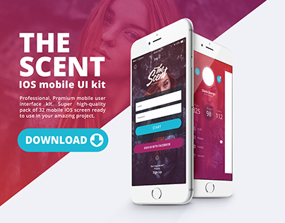 The Scent IOS mobile UI kit