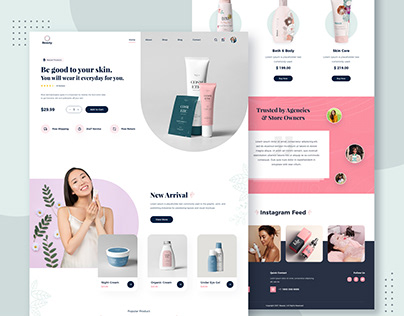Beauty Products Website Design