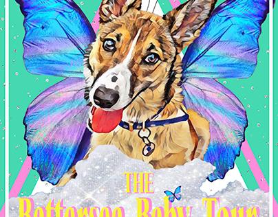 Battersea Baby - Custom Pet Art Tour Poster