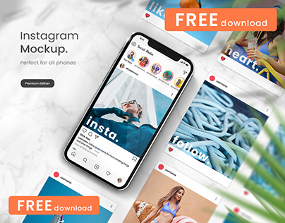 (FREE) Instagram Mockup Bundle for iPhone 12 and iPad